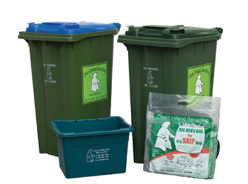 RECYCLING Facts - image of different bins